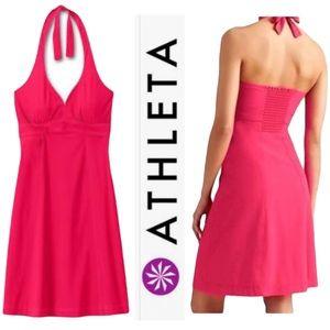 ATHLETA PACK EVERYWHERE HALTER DRESS
